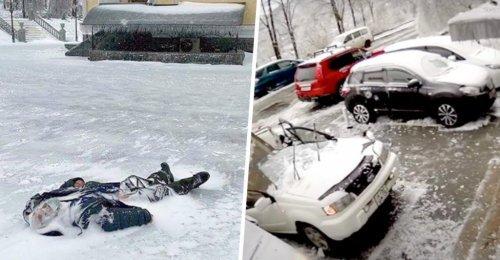 พายุฝนเยือกแข็งเข้าพัดรัสเซีย